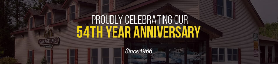 Proudly celebrating our 54th year anniversary | Gil's Garage Inc of Half Moon